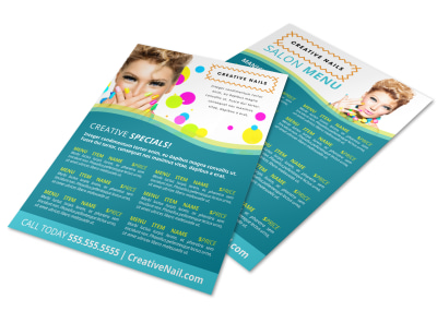Nail Salon Specials Flyer Template fhmx1w8jqo preview