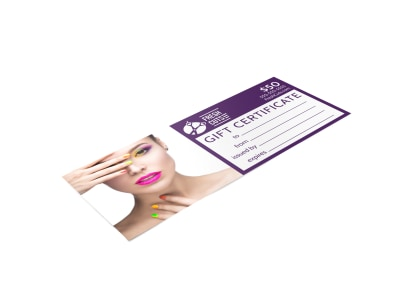 Hair Salon Gift Certificate Template i4o01nr2ds preview