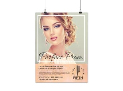 Prom Night Hair Salon Poster Template bvio24dz1d preview