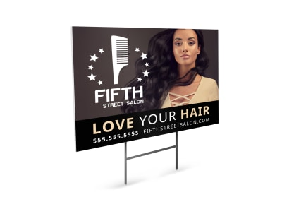 Hair Salon Sales Yard Sign Template adodwv0p2s preview