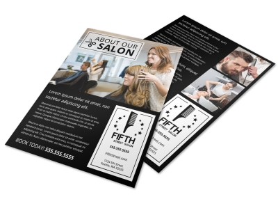 Hair Salon About Us  Flyer Template q9d81t43h6 preview
