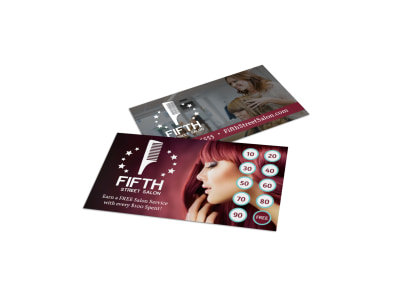 Hair Salon Loyalty Card Template p0ql4a6ffl preview