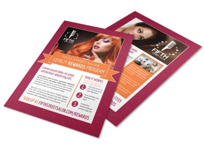 Loyalty Rewards Program Hair Salon Flyer Template ws546guyqw preview