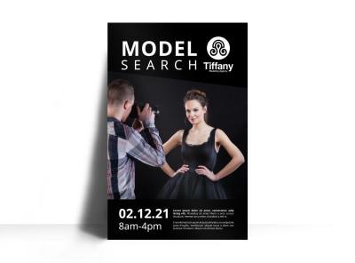 Model Search Poster Template 6mtni3w65u preview