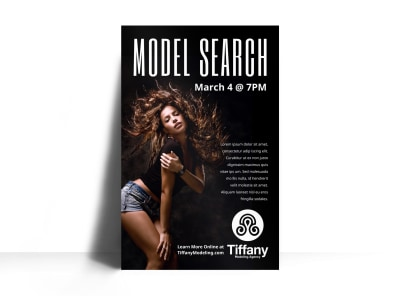 Model Search Poster Template y3ldugwk0o preview