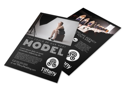 Model Search Flyer Template 7rb8o39nju preview