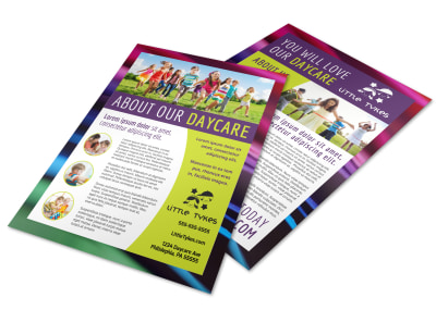About Us Daycare Flyer Template 65k59krwkf preview