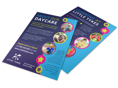 About Us Daycare Flyer Template 8bk6ivukrp preview