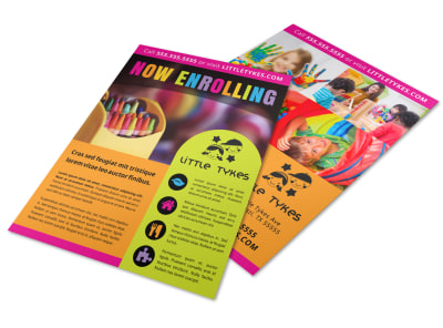 Now Enrolling Daycare Flyer Template d6k4hlzorx preview