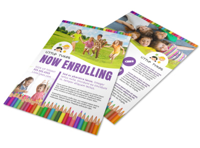 Now Enrolling Daycare Flyer Template gwf4gpopy1 preview