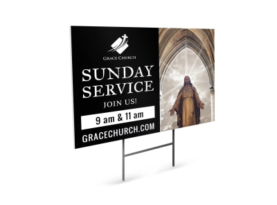Church Service Yard Sign Template 6z0mmhgwx5 preview