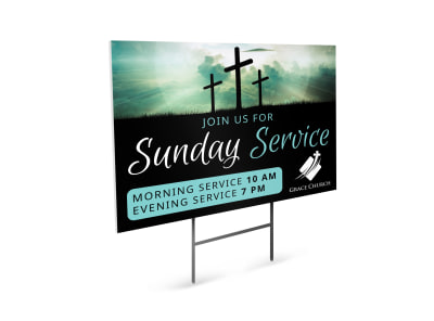 Church Service Yard Sign Template spr8lrvvyn preview