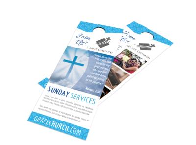 Church Service Door Hanger Template ykk80r53s9 preview