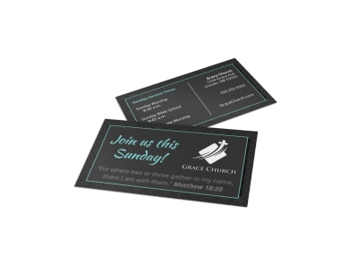 Church Outreach Business Card Template ub00hxu8y1 preview