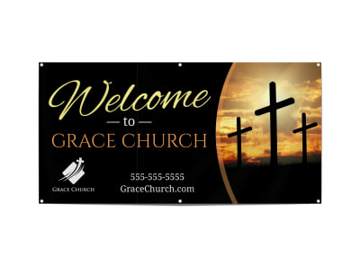 Church Welcome Banner Template fhobgpvuht preview