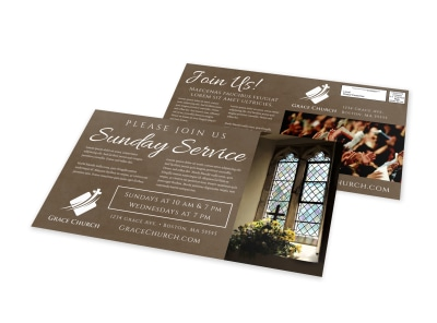 Church Invitation EDDM Postcard Template fvbbc1r4me preview