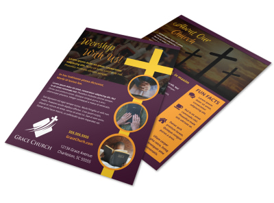 Church Invitation Flyer Template et21uhqxjl preview