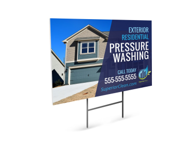 Pressure Washing Yard Sign Template kfrg5nd1w6 preview