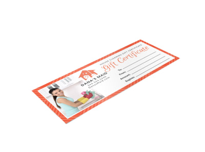 House Cleaning Gift Certificate Template ecvhpvepdv preview