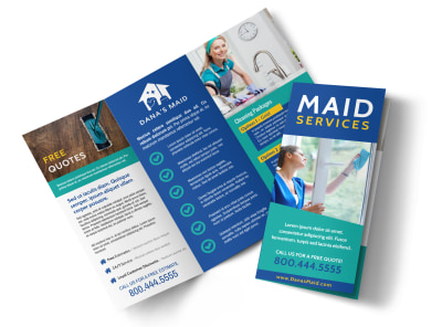 Maid Service Tri-Fold Brochure Template xk2bb41zpx preview