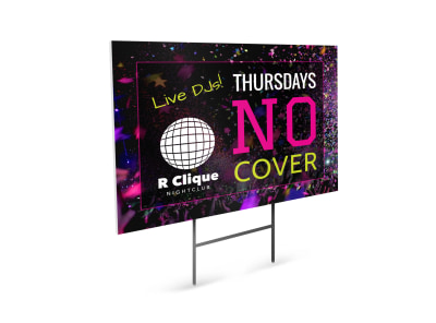 Nightclub Yard Sign Template ddq6n30qtk preview