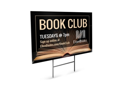 Book Club Yard Sign Template my1bgt46yh preview