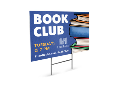 Book Club Yard Sign Template ekgfhlabc8 preview