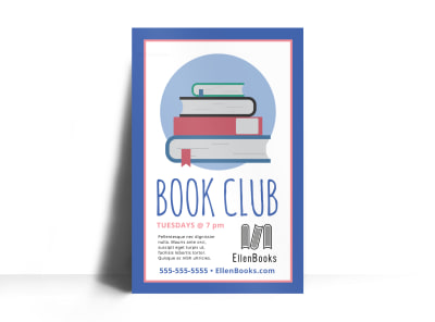 Book Club Poster Template et7r6zeahy preview