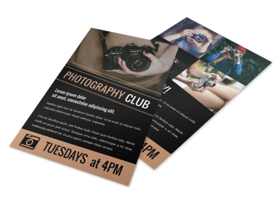 Photography Club Flyer Template x0wiy30jer preview