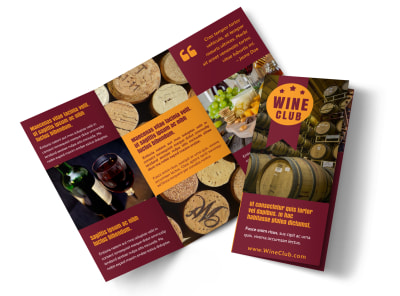 Wine Club Tri-Fold Brochure Template p4y9edbrhp preview
