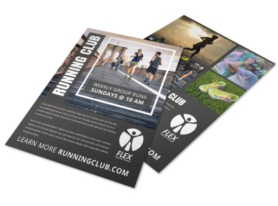 Running Club Flyer Template rp9y81x9an preview