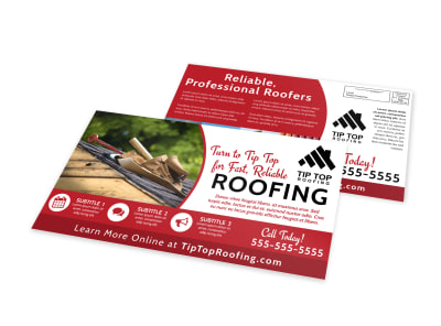 Roofing EDDM Postcard Template s0x35i07k7 preview