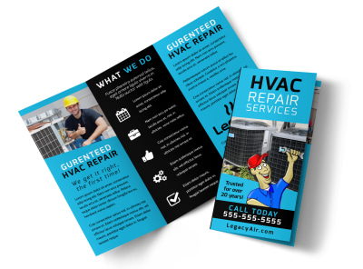 HVAC Services Offered Tri-Fold Brochure Template g1j19fd482 preview