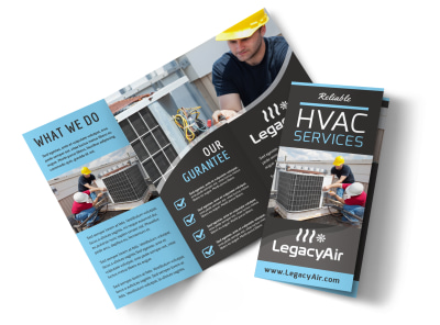 HVAC Services Offered Tri-Fold Brochure Template y9qdp79p02 preview