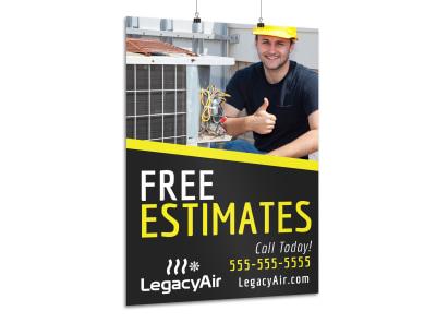 Free Estimates HVAC Poster Template c48azskto7 preview