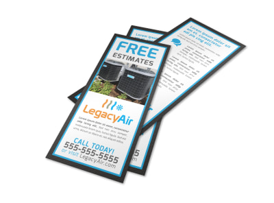 Free Estimates HVAC Flyer Template tg4fghjmfg preview