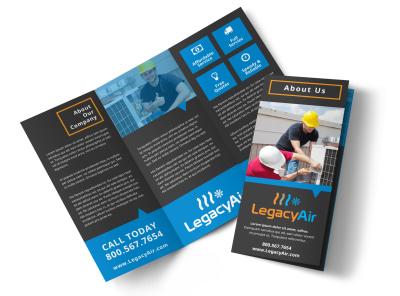 HVAC About Us Tri-Fold Brochure Template qdsctkjiis preview