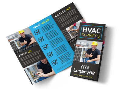 HVAC About Us Tri-Fold Brochure Template xx2mj6924r preview