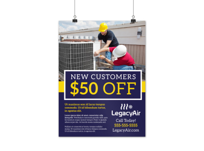 HVAC Special Offers Poster Template 7aextarsy3 preview