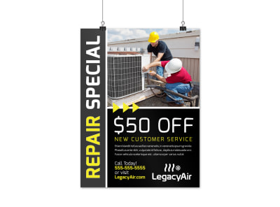 HVAC Special Offers Poster Template iakoeszl1t preview