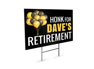 Retirement Party Yard Sign Template c5skjlwa41 preview