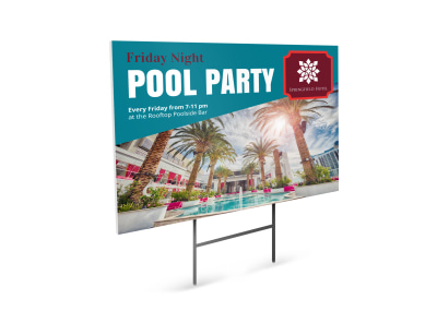 Pool Party Yard Sign Template k2cqvkovmy preview