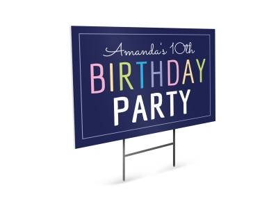 Party Yard Sign Template twj2fk2by8 preview