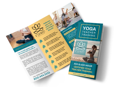 Yoga Teacher Training Tri-Fold Brochure Template 8yvk2ahr3q preview