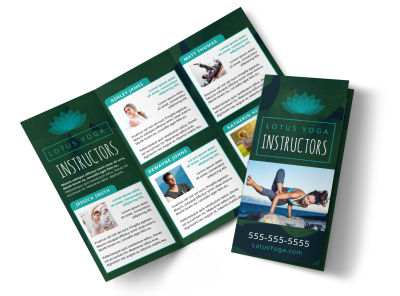 Yoga Instructor Info Tri-Fold Brochure Template 6f1mbv6pkx preview