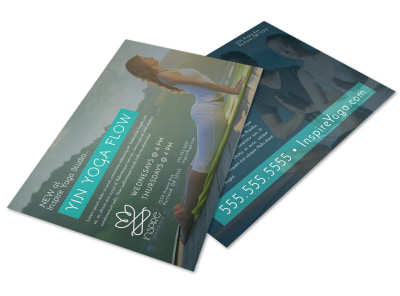 Yoga Class Detail Postcard Template rrpdasdbo8 preview