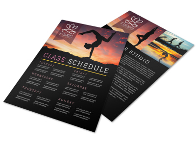 Yoga Schedule Flyer Template 5eur10r3k2 preview
