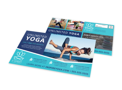 Yoga EDDM Postcard Template 77sdfur9ke preview