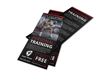 Personal Training Promo Flyer Template hajh0sr9nl preview