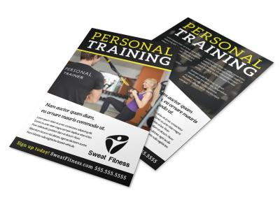 Personal Training Promo Flyer Template kcnih8ek4q preview